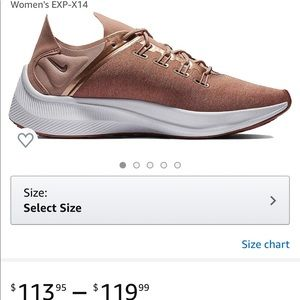 Nike exp x-14 women's size 7 rose gold